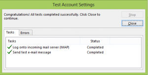 Successfully Configured Your Email Account under Outlook 2013