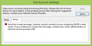 Outlook 2013 Detailed Error Description